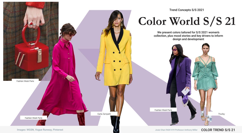 Xu hướng màu sắc thời trang 2021