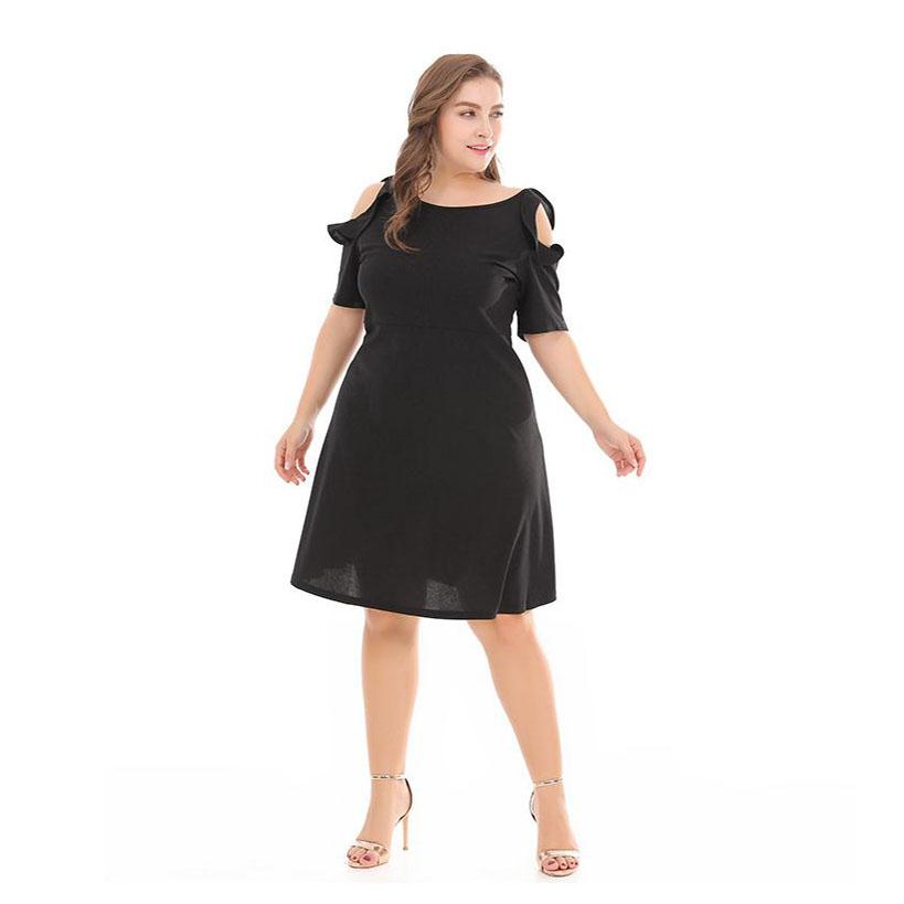mẫu váy chữ A cho người béo bụng