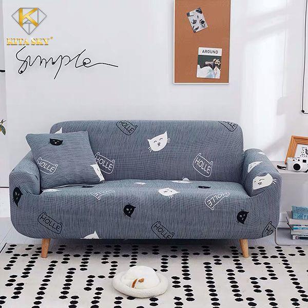 Tấm bọc ghế sofa mèo xám xinh xinh