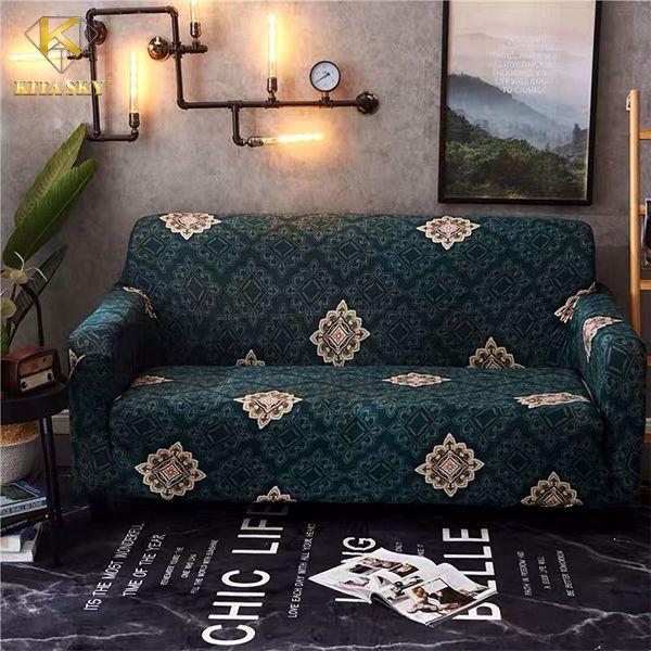 Drap cho sofa hoa văn gạch bông