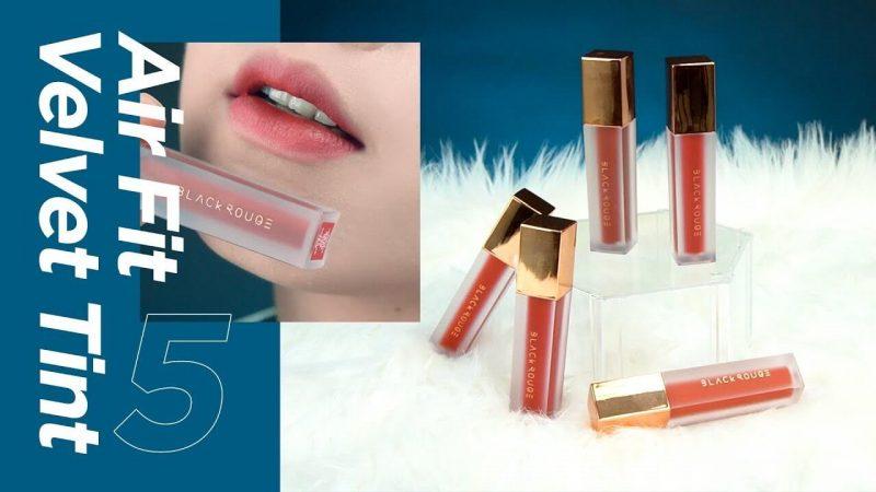 Đánh giá Top 15 thỏi son lì Hàn Quốc giá rẻ tốt nhất hiện nay Black Rouge Air Fit Velvet Tint Version 5