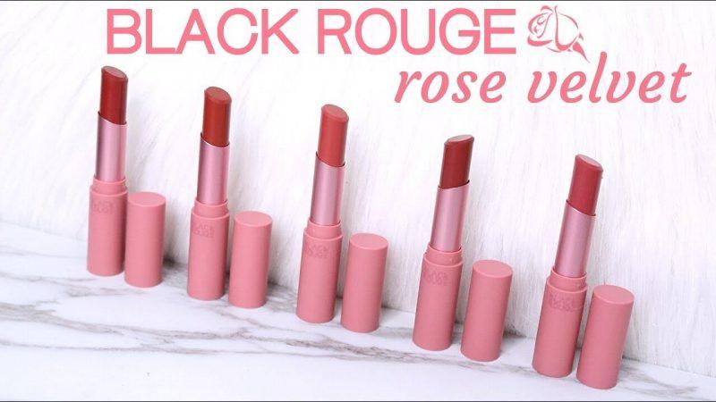 son lì Hàn Quốc 14. Son Lì Black Rouge Rose Velvet Lipstick – Các Loại Son Lì Của Hàn Quốc