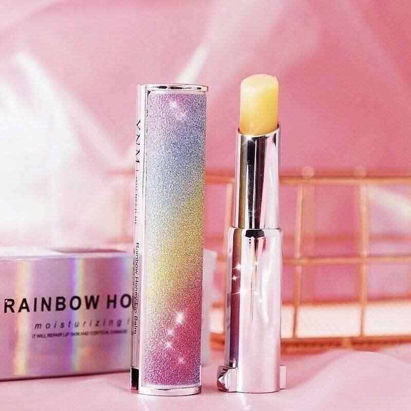son dưỡng môi ban đêm Son dưỡng đổi màu YNM Rainbow Honey Lip Balm