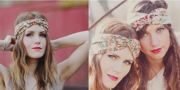 Cách thắt khăn turban cực xinh cho bạn gái tự tin xuống phố 10