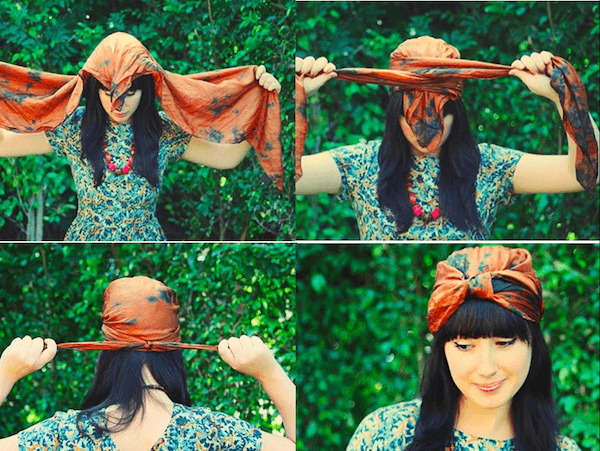 Cách thắt khăn turban cực xinh cho bạn gái tự tin xuống phố 11