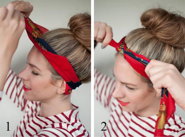 Cách thắt khăn turban cực xinh cho bạn gái tự tin xuống phố1