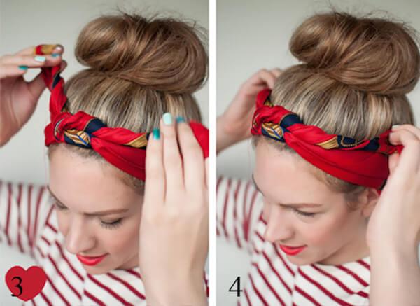 Cách thắt khăn turban cực xinh cho bạn gái tự tin xuống phố2