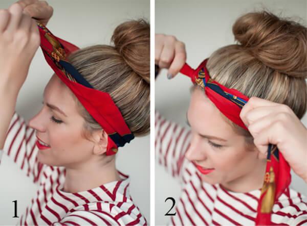Cách thắt khăn turban cực xinh cho bạn gái tự tin xuống phố 3