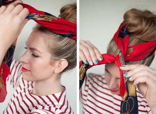Cách thắt khăn turban cực xinh cho bạn gái tự tin xuống phố 6