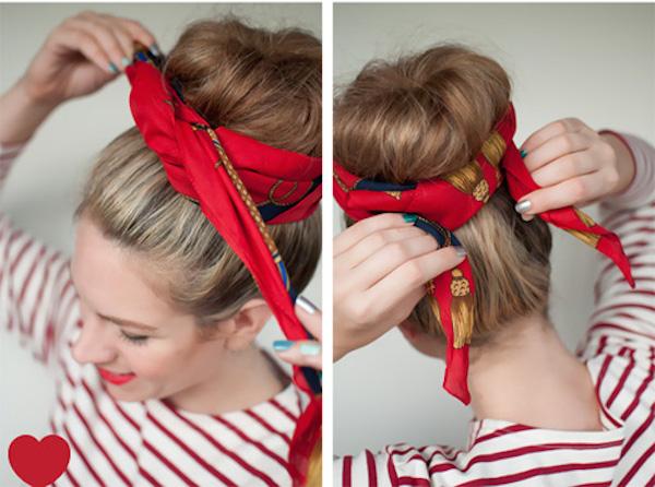 Cách thắt khăn turban cực xinh cho bạn gái tự tin xuống phố 7