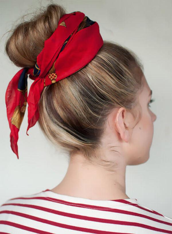 Cách thắt khăn turban cực xinh cho bạn gái tự tin xuống phố 8