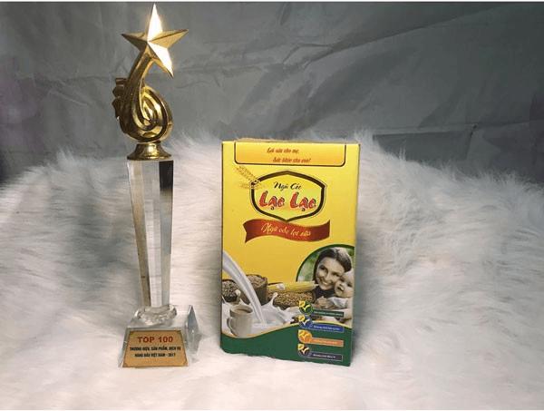 Ngũ cốc Lạc Lạc từng được nằm trong top 100 thương hiệu sản phẩm hàng đầu Việt Nam